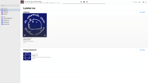 Podcasts app op macOS Catalina