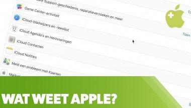 Benieuwd wat Apple van je weet?