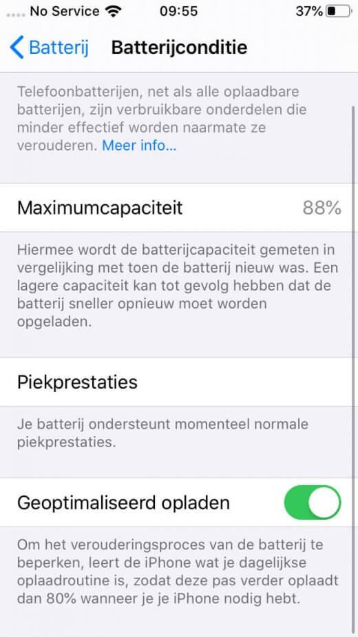 """Gebruik """"Geoptimaliseerd opladen"""" vanaf iOS 13 om te zorgen dat je iPhone accu gezond blijft"""