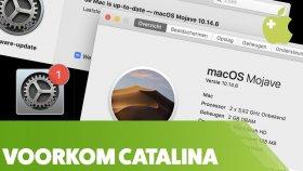 Catalina updates negeren in macOS Mojave