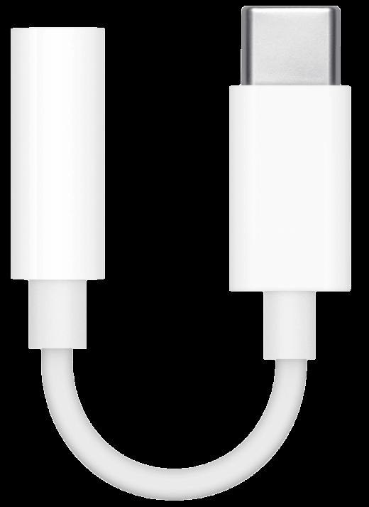 Zonder hoofdtelefoon-aansluiting op de iPad zul je een adapter als deze nodig hebben
