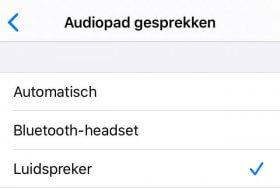 iPhone telefoongesprekken standaard via luidspreker