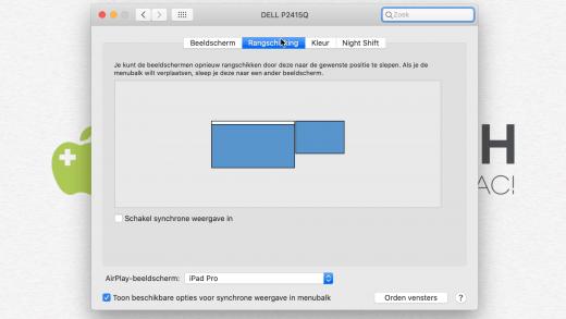 Zet je Sidecar iPad op de juiste plek in de rangschikking