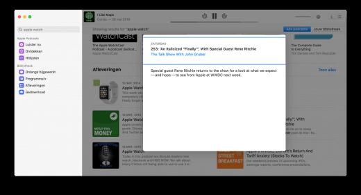 De nieuwe Podcasts app op macOS 10.15 Catalina