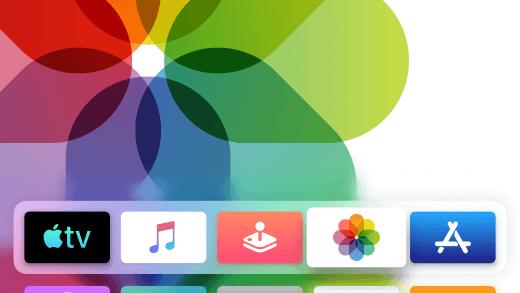 Apple's TV vernieuwde thuisscherm