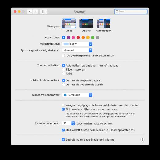Verberg je menubalk automatisch op de Mac met deze optie