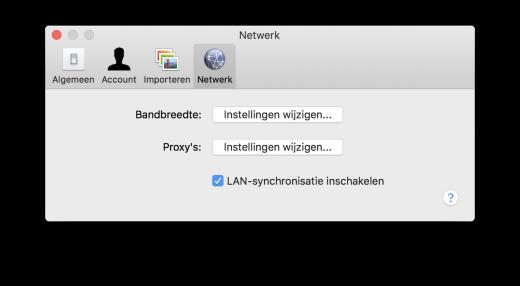Dropbox kan direct over het netwerk synchroniseren