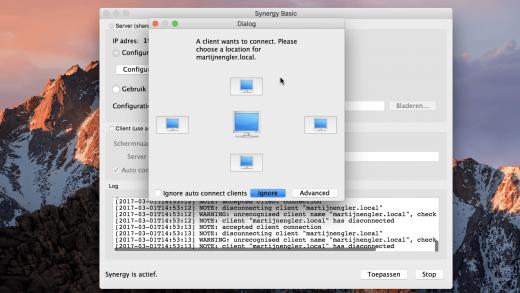 Gebruik Synergy om een toetsenbord en muis te delen tussen meerdere computers