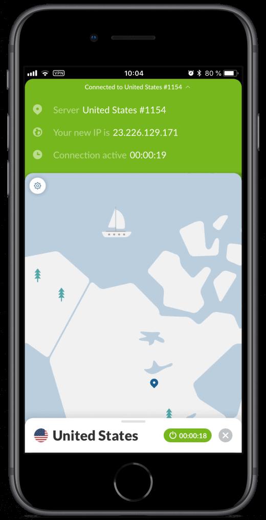 NordVPN heeft ook een iOS app