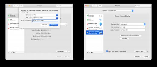 VPN-instellingen op de Mac